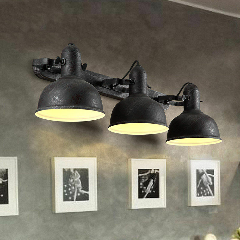Industrial Loft Metal Round Wall Sconce Light Fixture