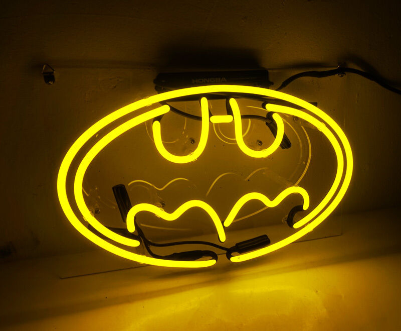 Superhero Neon Wall Lights : Batman Superhero Home Beer Bar Poster Art Handmade Crafts NEON Light Sign TN070 eBay