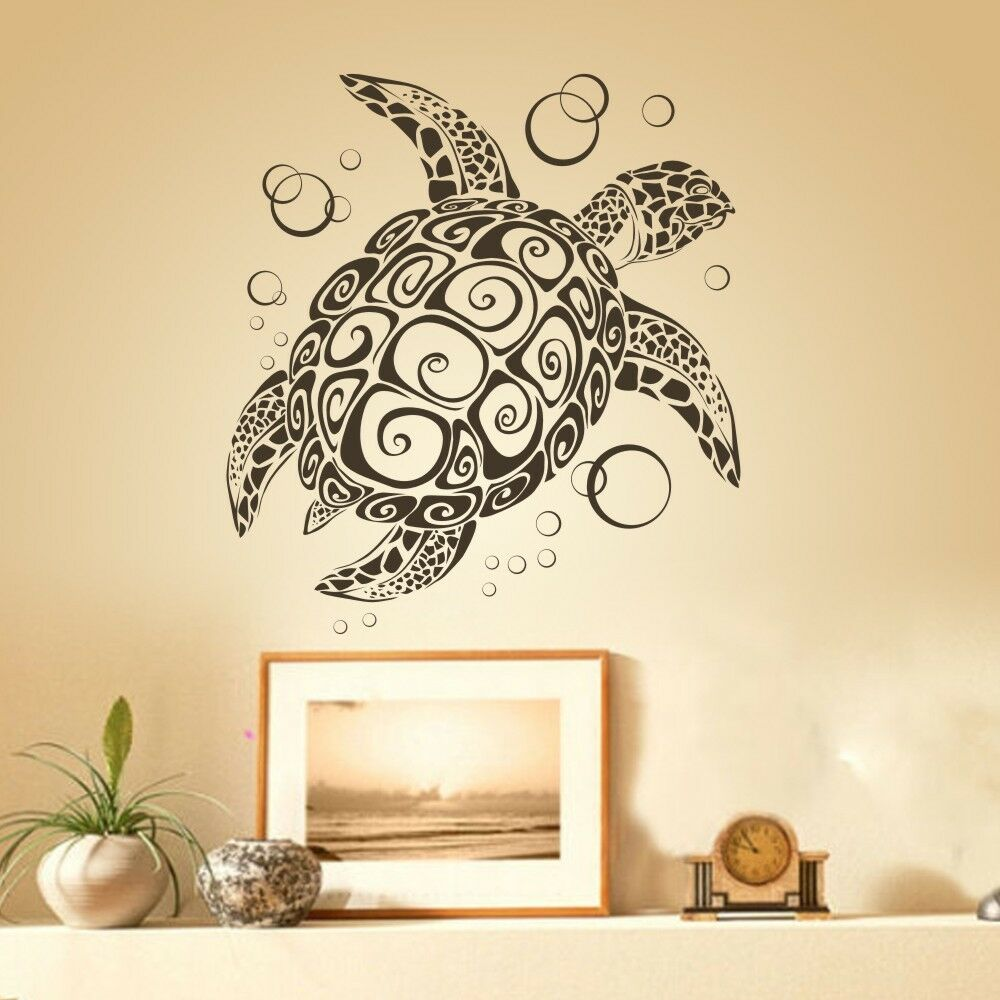 Sea Turtle Wall Decal Ocean Animal Inspired Vinyl Removable Baby Room Art Decor Ebay