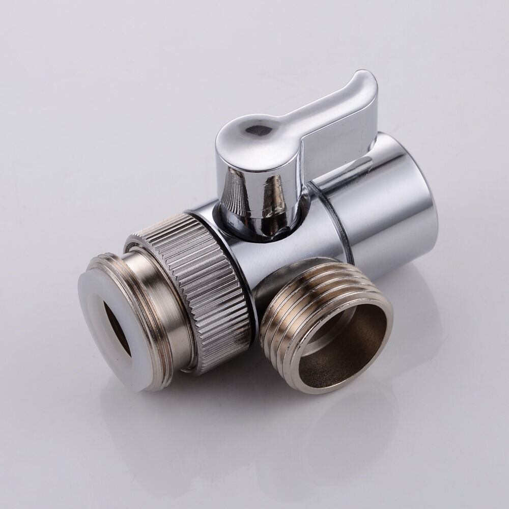Sink Tap Mixer Faucet Diverter Valve With Aerator And Male Threaded Adapter Ebay