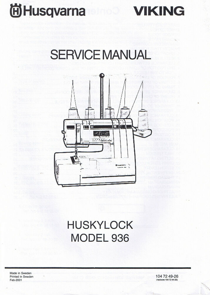 husqvarna viking sewing machine repair manual