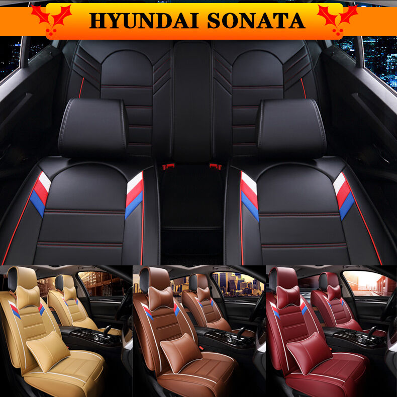 for hyundai sonata 5 colors car seat buy interior cover pu leather 5 seats sp92 ebay. Black Bedroom Furniture Sets. Home Design Ideas