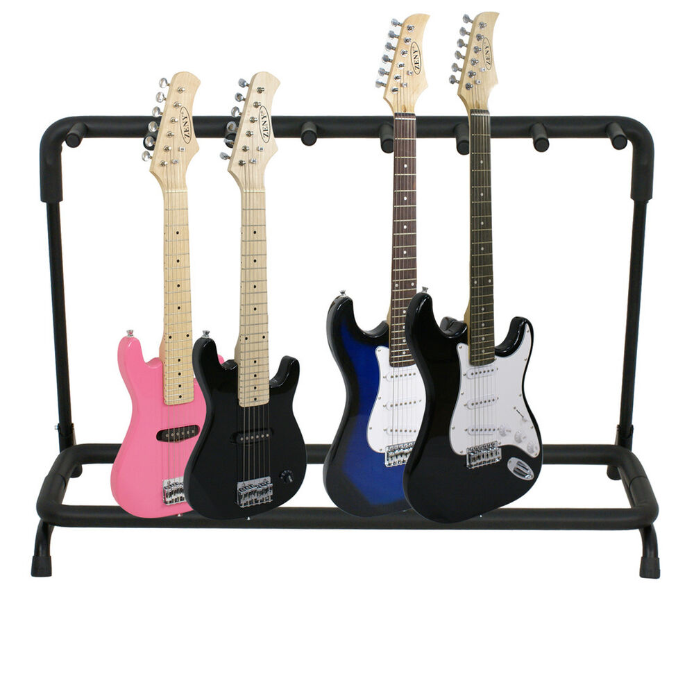 guitar stand 7 holder guitar folding stand rack band stage bass acoustic guitar ebay. Black Bedroom Furniture Sets. Home Design Ideas