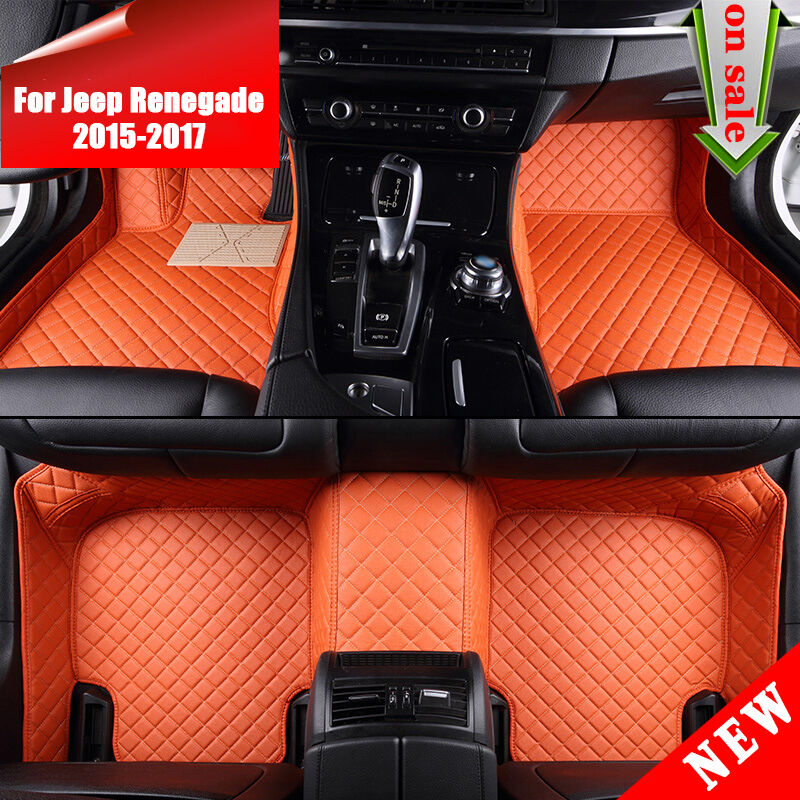 Sp92 8 Colors Leather For Jeep Renegade 2015 2017 Buy Car Interior Floor Mat Ebay