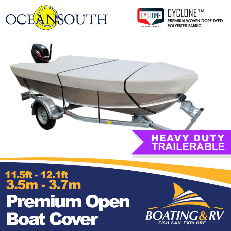 c91fe1534c7 Details about 3.5 - 3.7m Trailerable Open Boat Cover