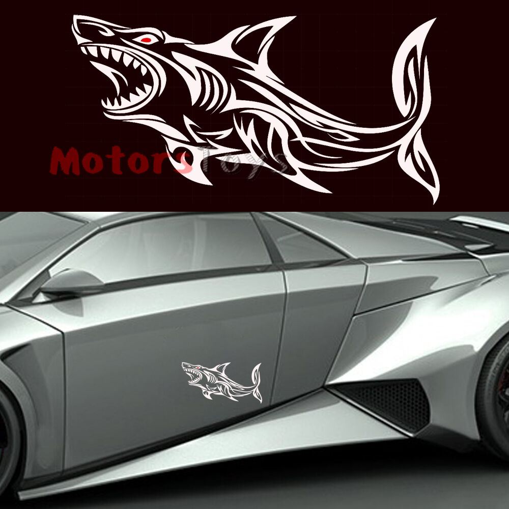 1 super cool car sticker open big mouth red eyes shark vinyl car sticker decal 680465964002 ebay