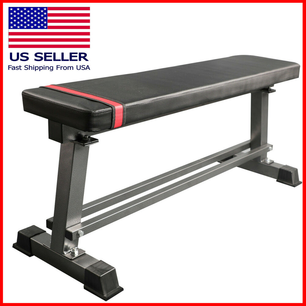 Flat Utility Weight Bench Gym Exercise Fitness Workout