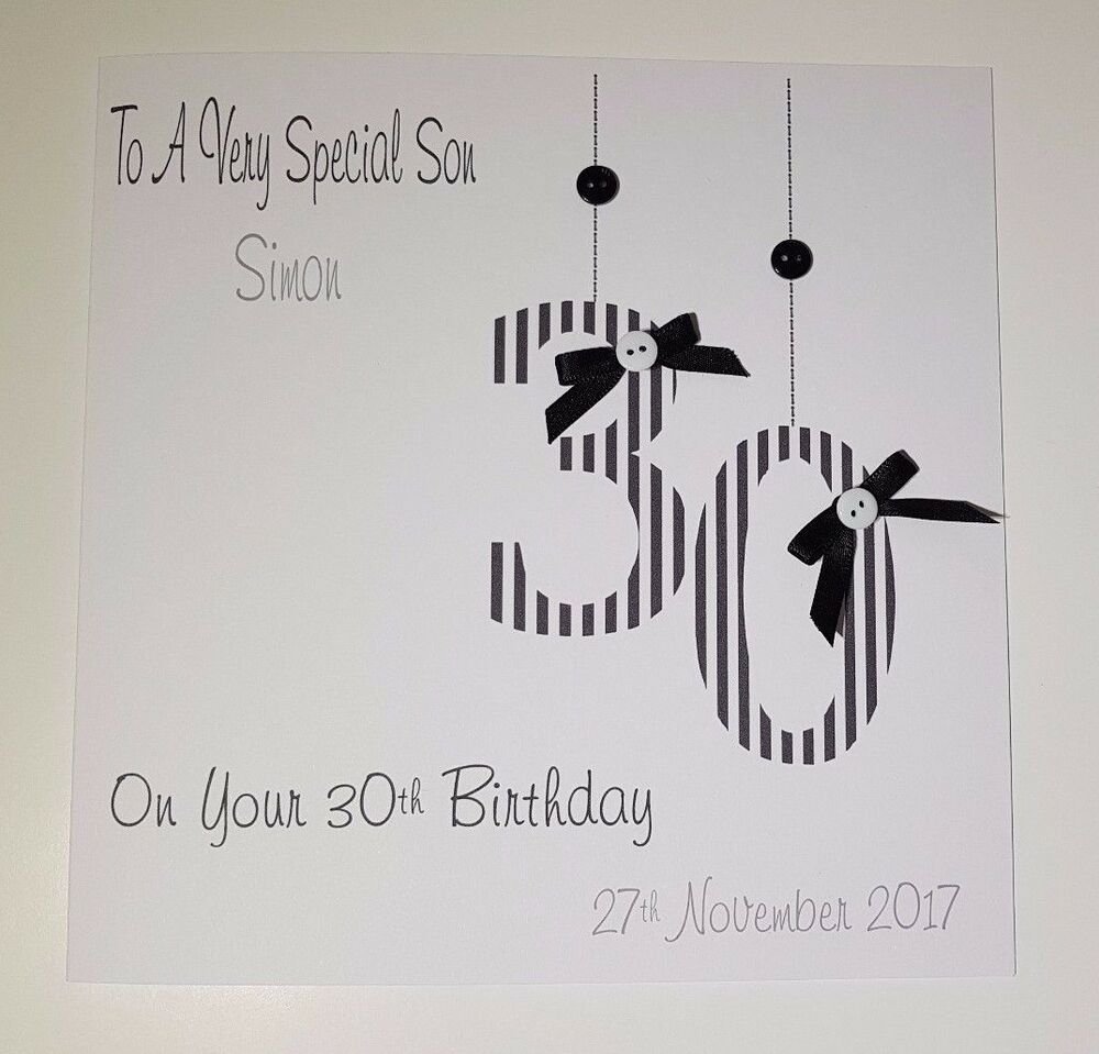 Personalised 30th Birthday Card Gift Wallet Nephew Son