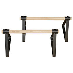 Vita Vibe PS18-W 18 Inch Wood Parallettes Set  - New