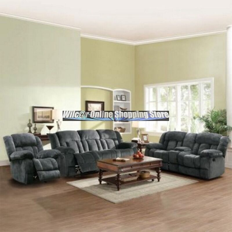 Oversized Glider Recliner Sofa Loveseat Couch Set