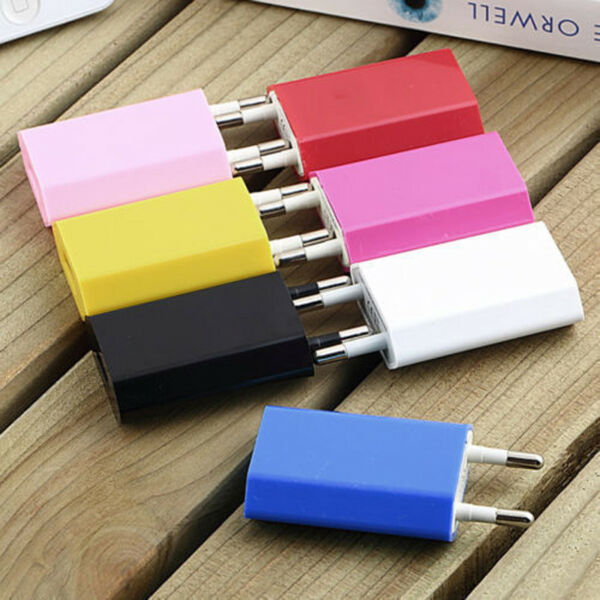 European USB Power Adapter EU Plug Wall Travel Charger For iPhone Samsung HTC LG