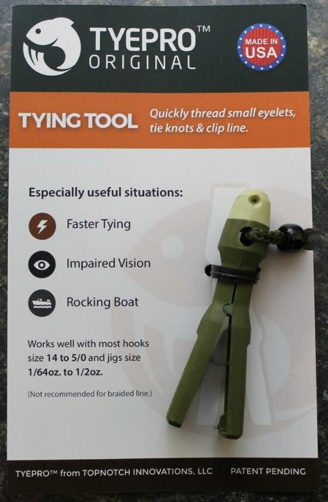 New tyepro original fishing knot tying tool threads for Tyepro fishing tool