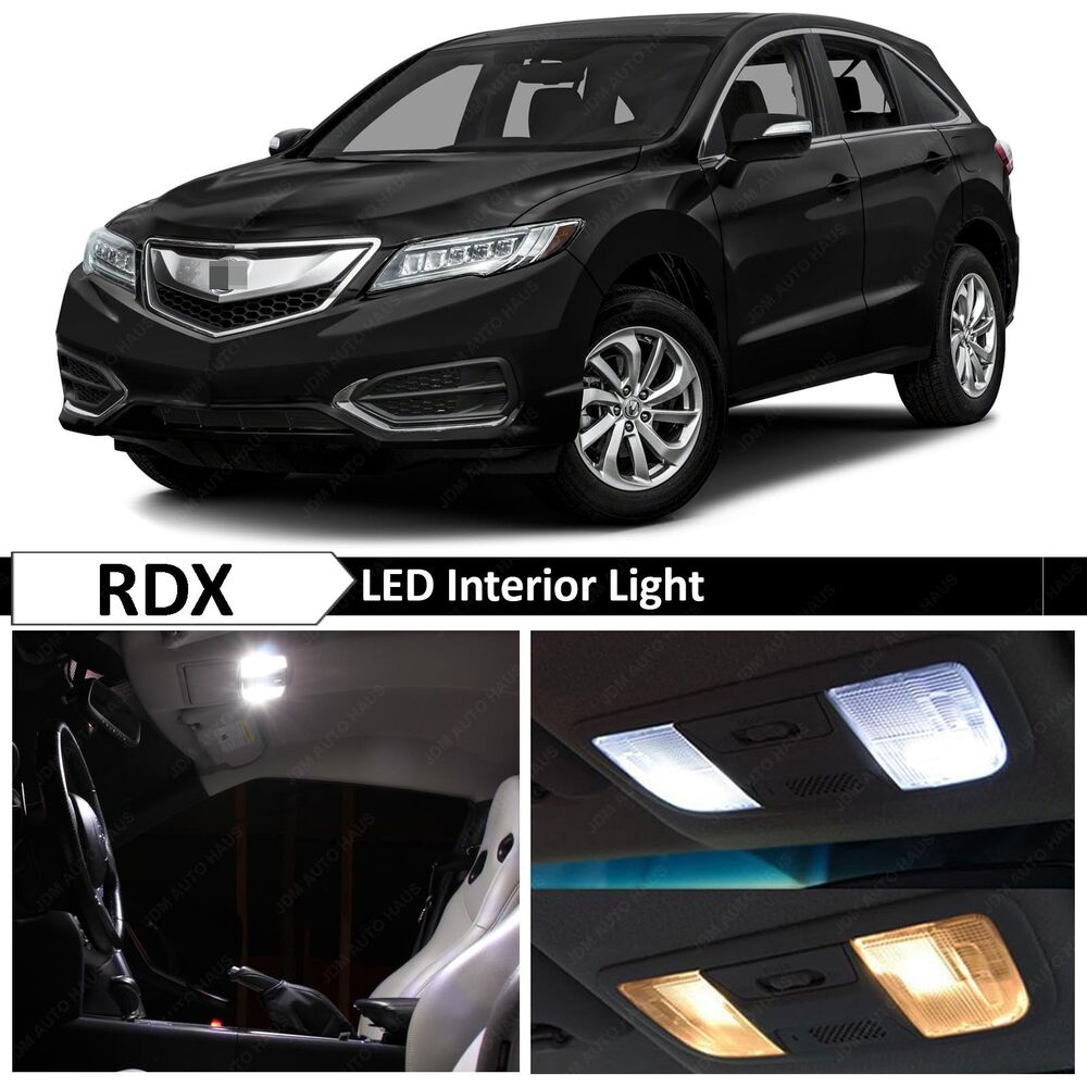 14x white led lights interior package kit for 2013 2016 acura rdx ebay. Black Bedroom Furniture Sets. Home Design Ideas
