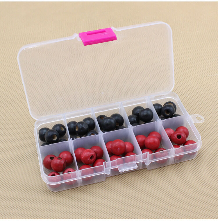 10 compartments plastic box jewelry bead storage container for Craft storage boxes plastic