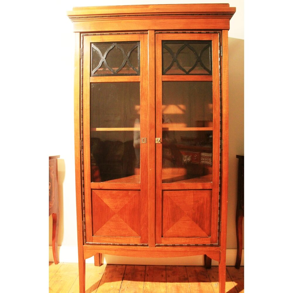 antik alt kommode interieur schrank vitrine kommode glast ren antique art deco ebay. Black Bedroom Furniture Sets. Home Design Ideas