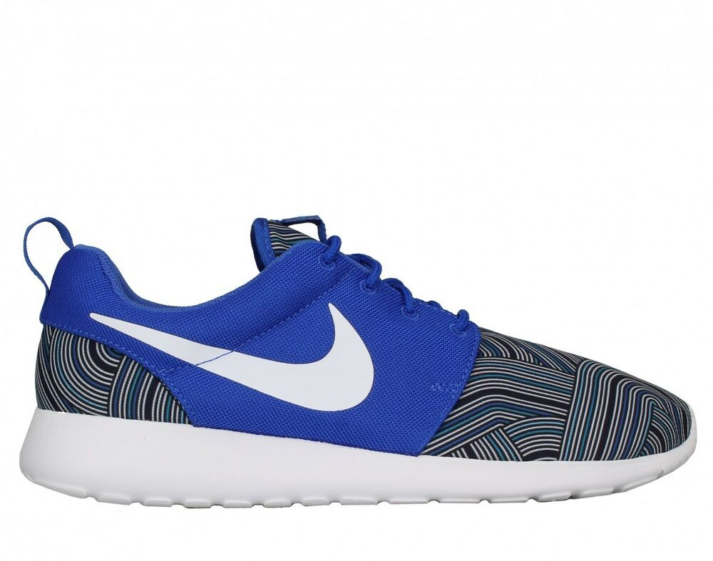 newest 5243d a7792 Details about Mens Nike Roshe One Print Light Weight Athletic Sneakers  655206 416 RacerBlue