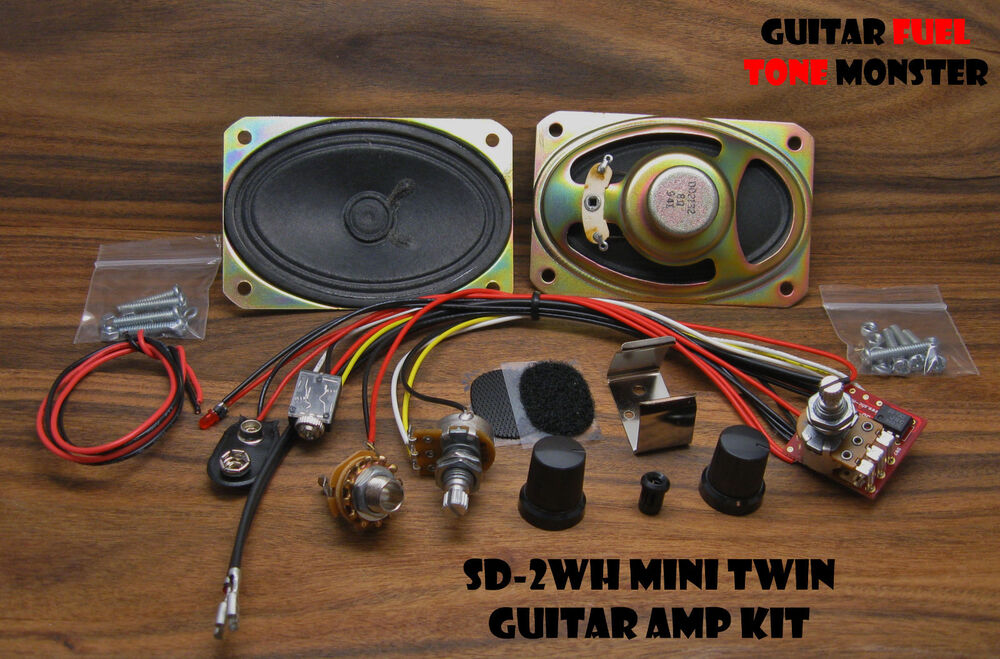 Amp Kit Guitar : tone monster sd2wh mini twin guitar amp amplifier kit 2w volume gain cigar box ebay ~ Hamham.info Haus und Dekorationen
