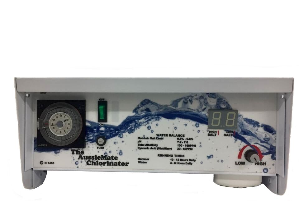 New Aussiemate Salt Water Pool Chlorinator Self Cleaning Low Maintenance No Cell Ebay