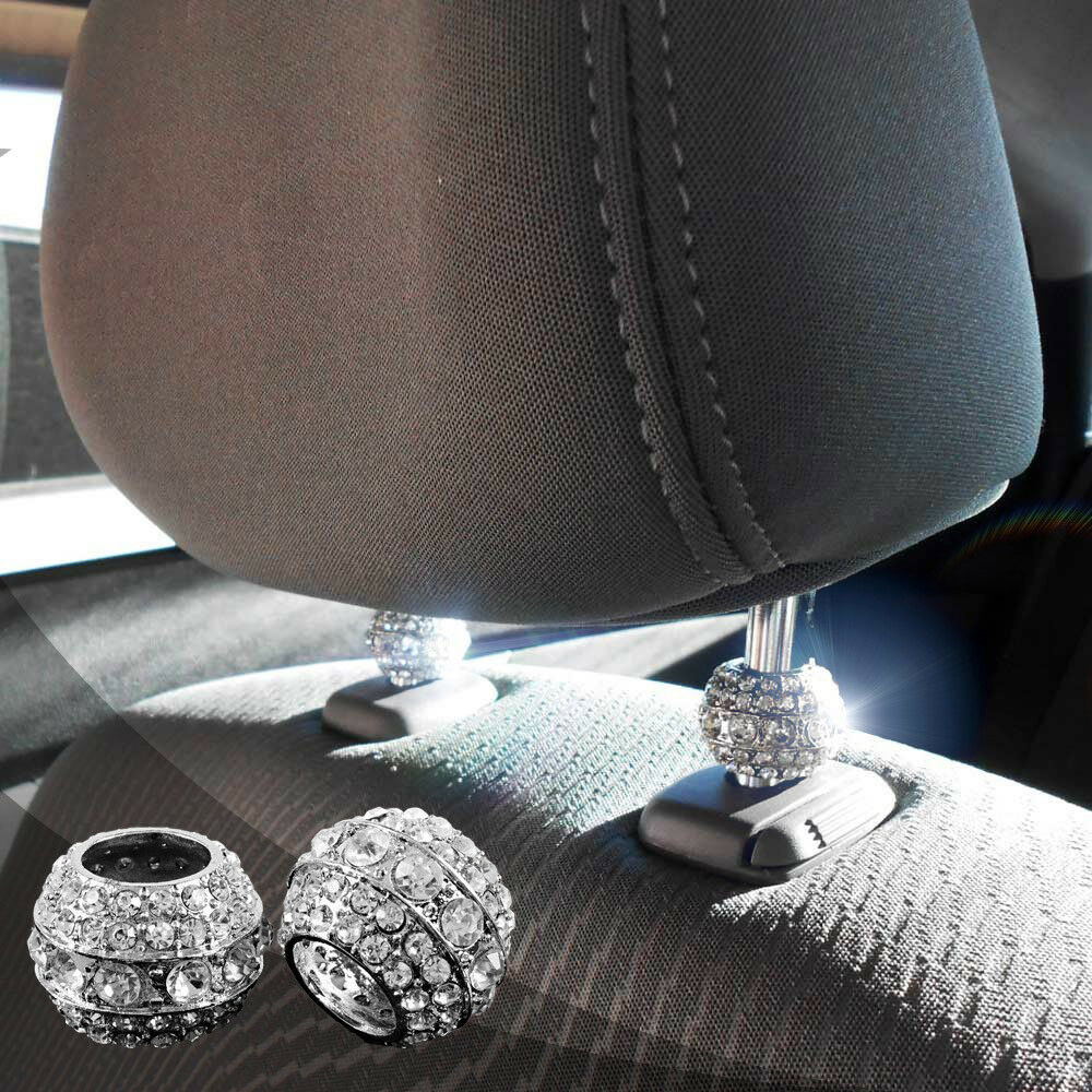 Bling Car DecorR Crystal Seat Headrest Collar Charm Rhinestone Accessory 648620308986