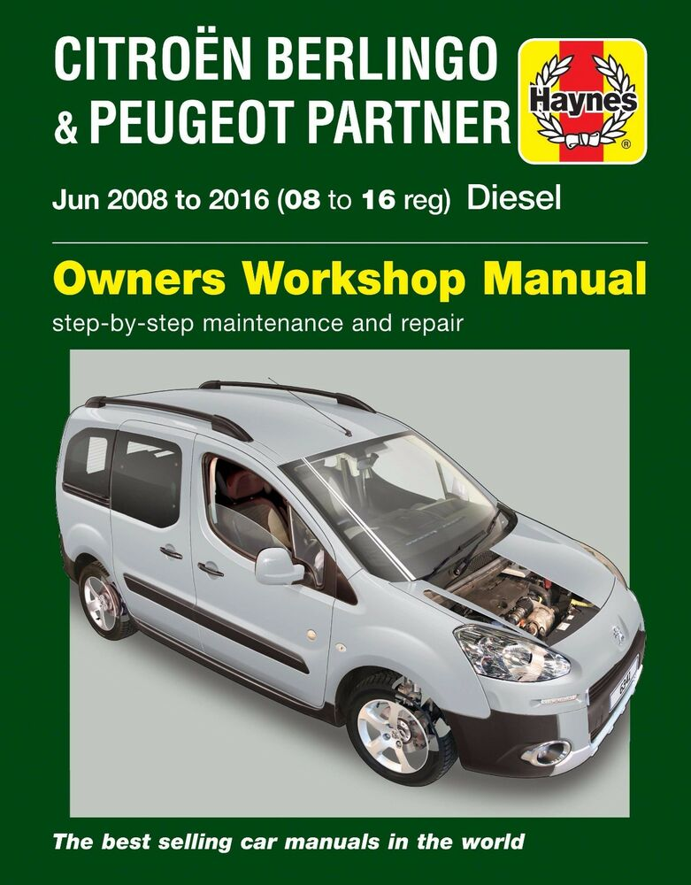 haynes manual 6341 citroen berlingo or peugeot partner diesel 2008 rh ebay co uk citroen nemo repair manual citroen nemo manual gearbox problems