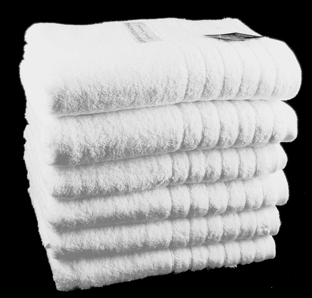 Spa Quality Towels: Hotel Quality White Bath Towels 650 Gsm 100% Cotton Pack