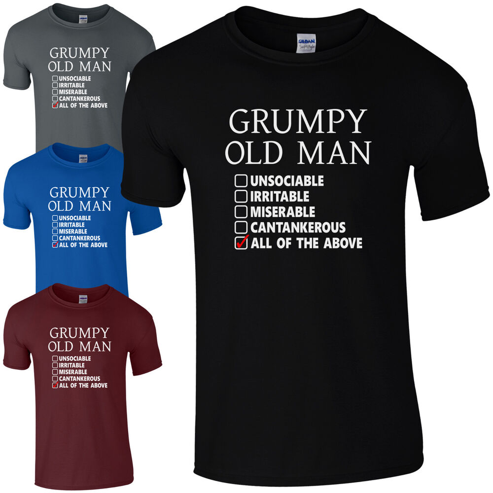 Old People Christmas Gifts: Grumpy Old Man Checklist T-Shirt