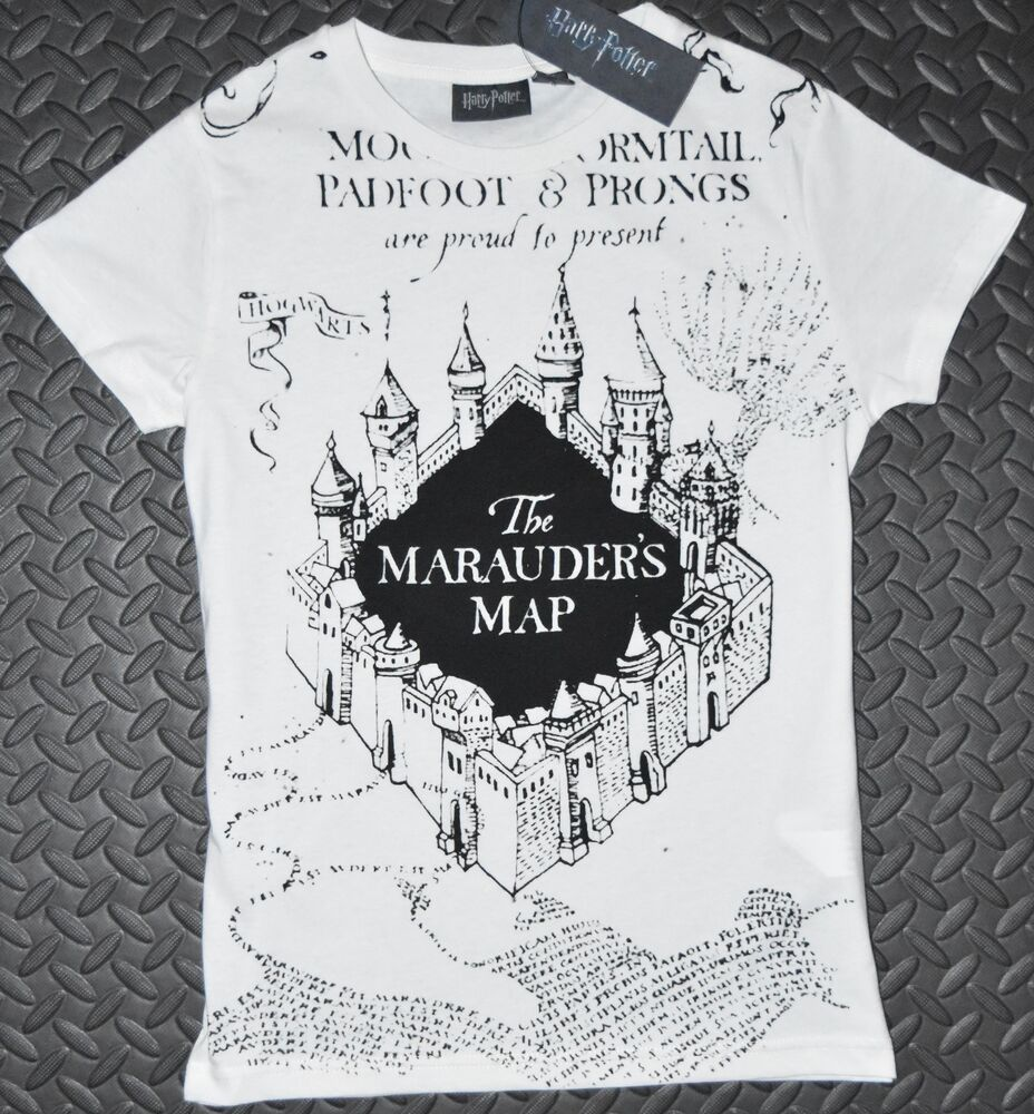 07309354 Details about Primark MARAUDERS MAP T Shirt HARRY POTTER Womens Ladies UK  Sizes 4-20 NEW