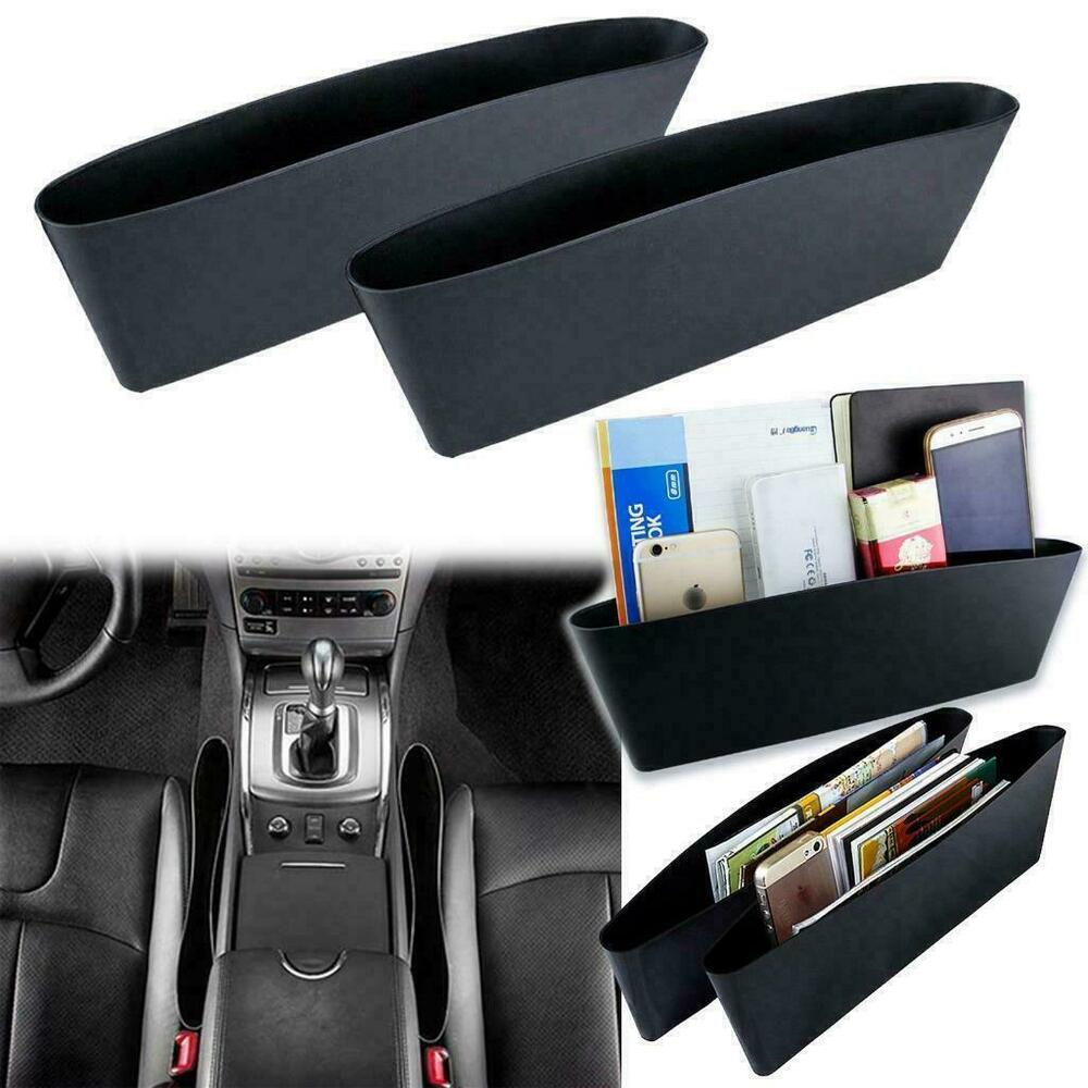 2pcs Car Seat Seam Bag Storage Organizer Holders Phone