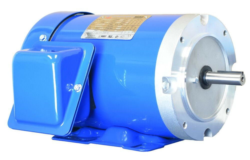 2 hp electric motor 56c frame 3 phase 1800 rpm 208 230 460 for 56c frame motor dimensions