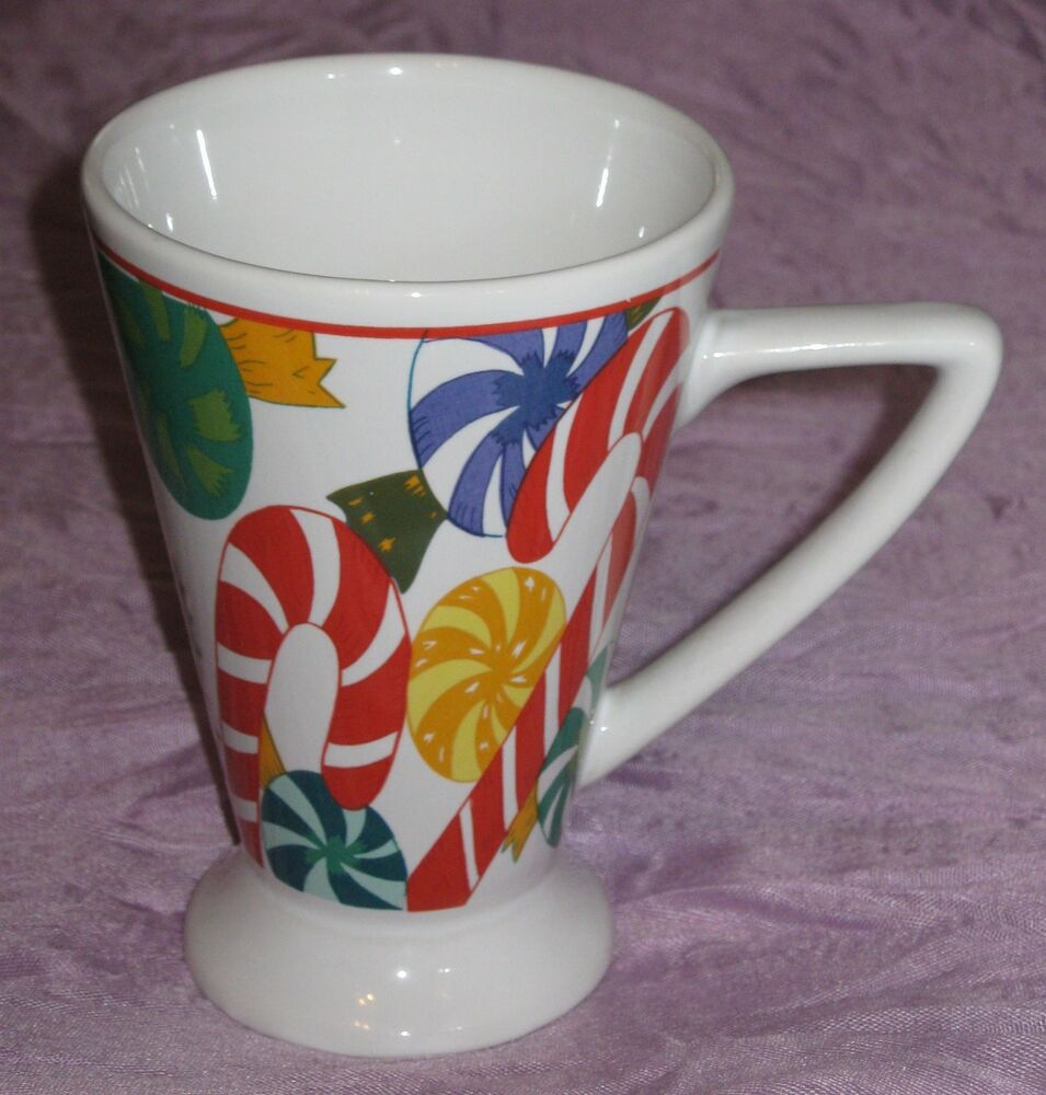 Christmas Holiday Candy Cane Tall 10oz Coffee Mug Cup