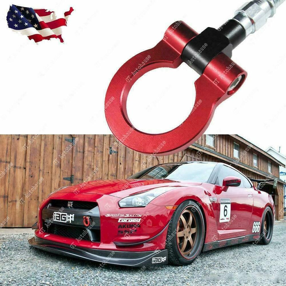 Red Track Racing Style Aluminum Tow Hook For Nissan 370Z