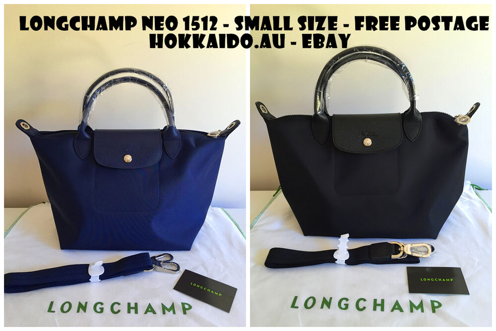 Longchamp Le Pliage Neo Bag Small Size Navy And Black Brand New Ebay