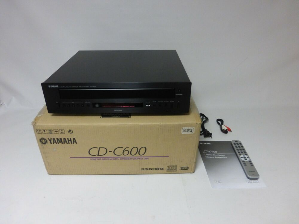 Yamaha cd c600bl 5 disc cd changer black as is for for Yamaha cdc 675