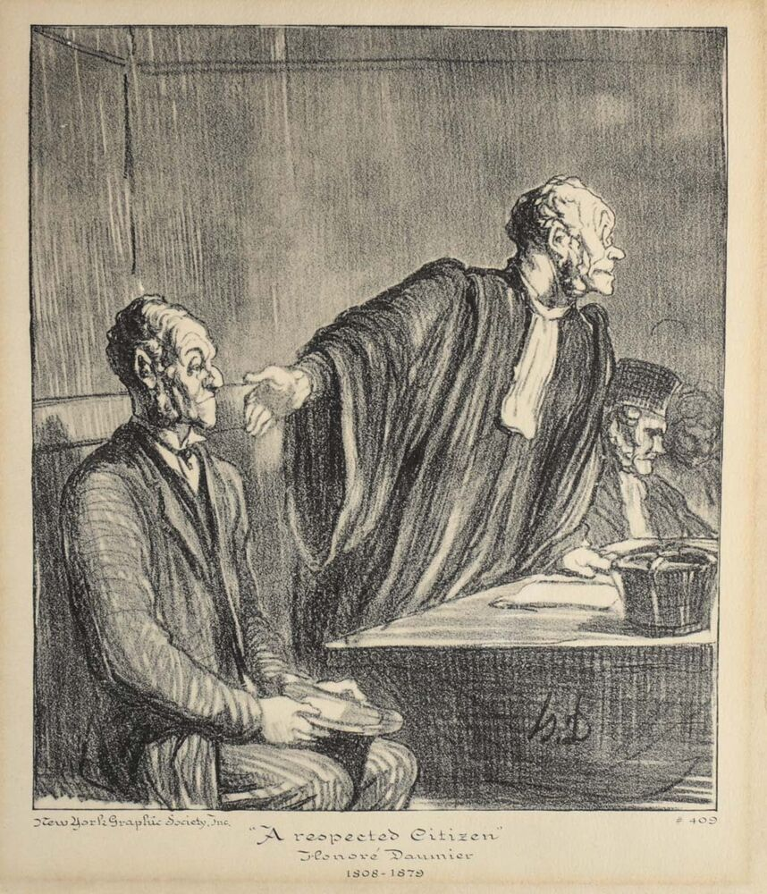 Sold Price: Honore Daumier (1808-1879, French) A Group of