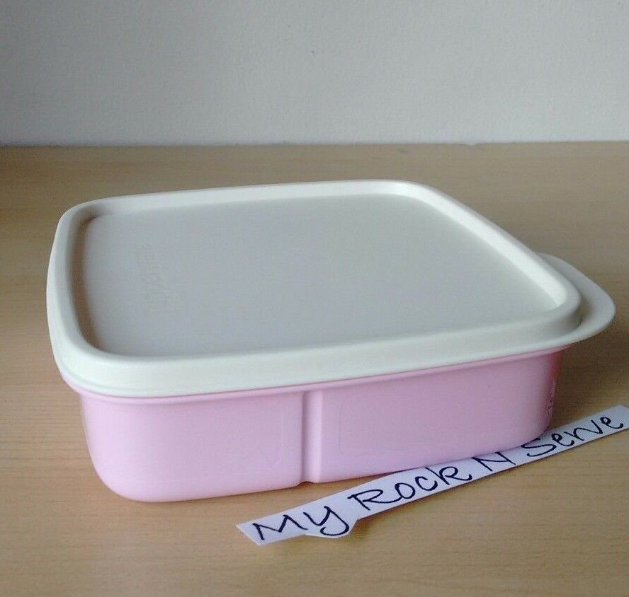 Sectioned Tupperware: Tupperware Lunch Square Divided Packette Lunch Box Pastel