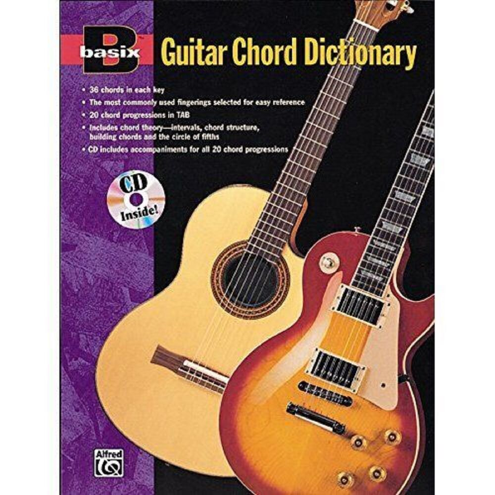 Basix Guitar Chord Dictionary Theory Intervals Tab Music Cd Book