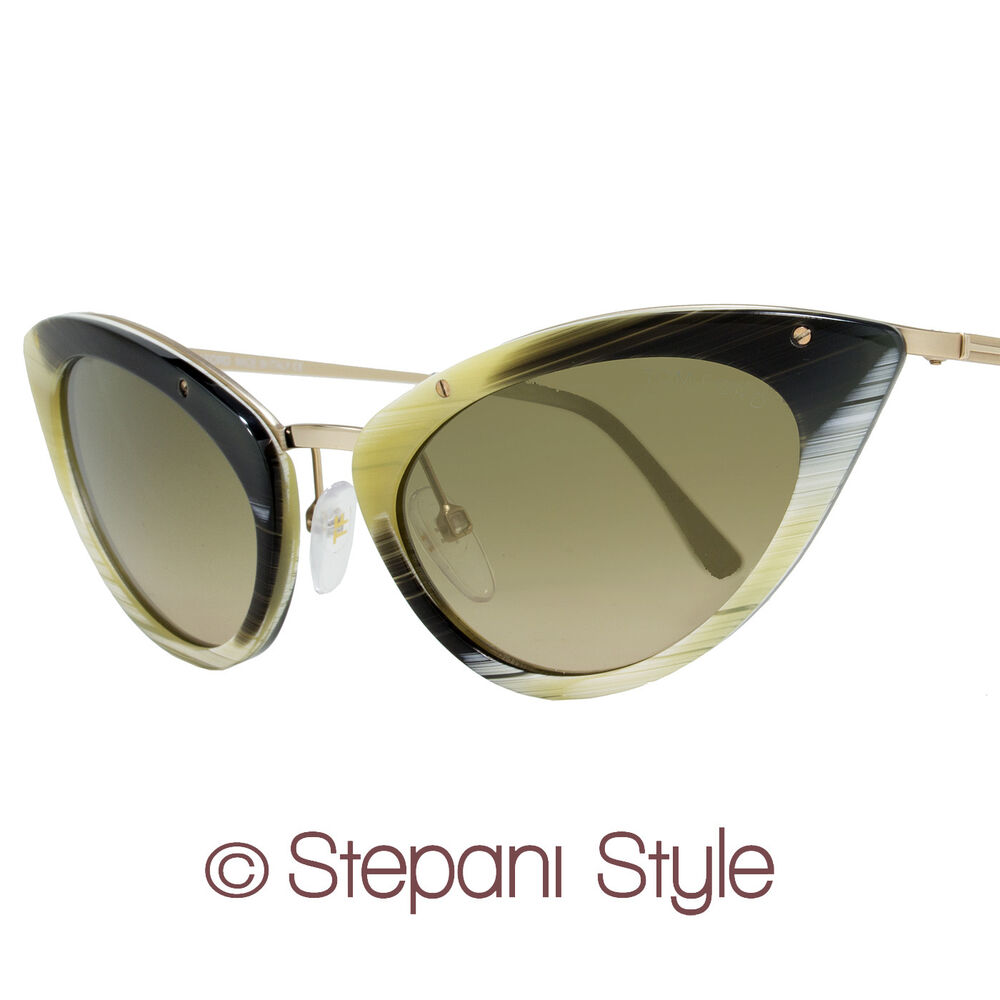tom ford cat eye sunglasses tf349 grace 64j shiny horn gold 349 ebay. Cars Review. Best American Auto & Cars Review
