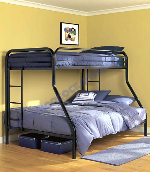 Space Saving Bunk Beds: Twin Over Full Bunk Bed Metal Beds For Kids Space Saver