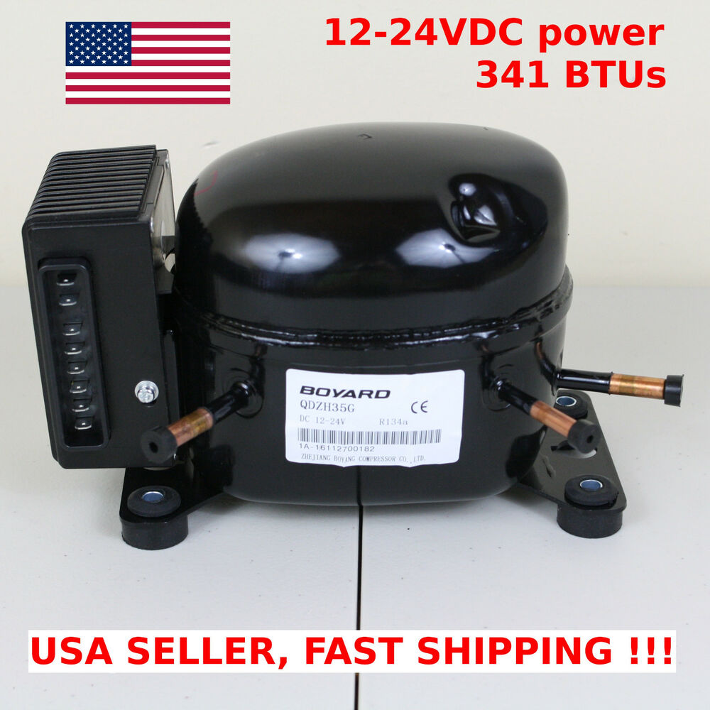 12v 24v Dc Refrigeration Compressor Fridge Freezer Marine
