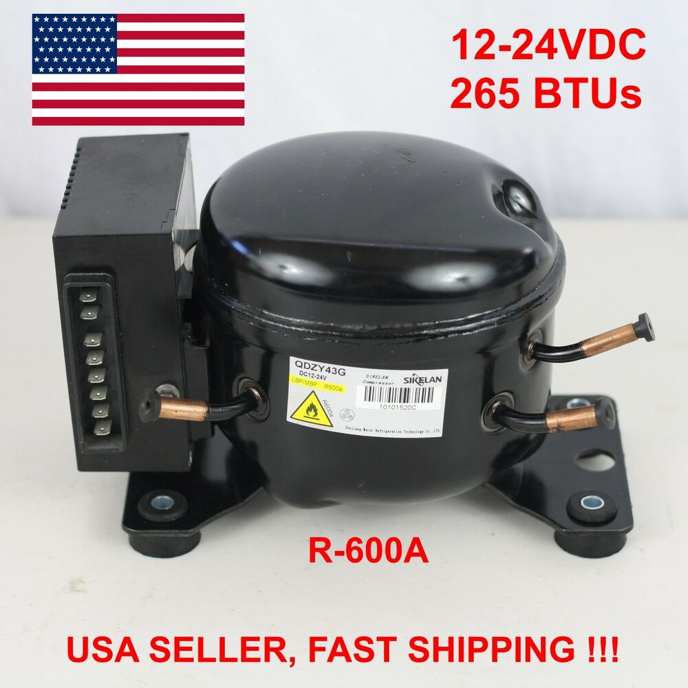 12v 24v Dc Refrigeration Compressor Fridge Freezer Mobile
