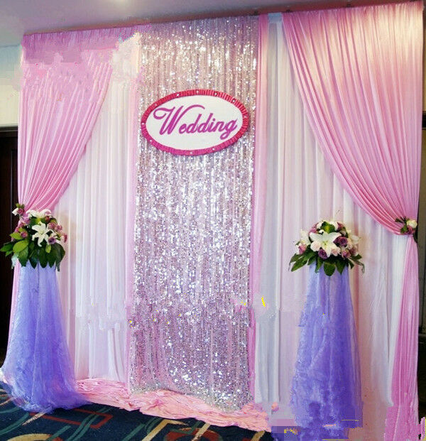 New Wedding Stage Background Decoration Welcome Curtains Reception