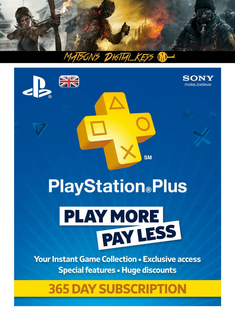 playstation plus 12 month membership code 365 days. Black Bedroom Furniture Sets. Home Design Ideas