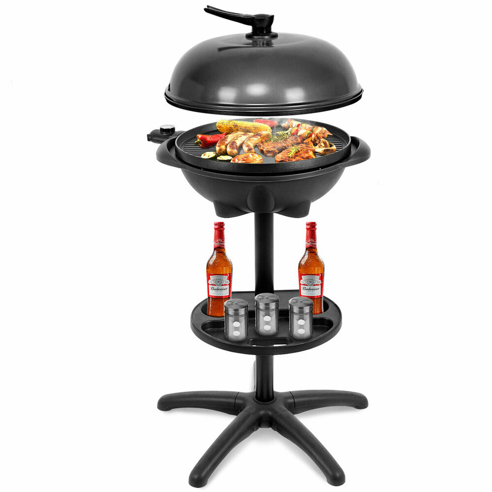Small Electric Grills Outdoor ~ Electric bbq grill w non stick temperature setting