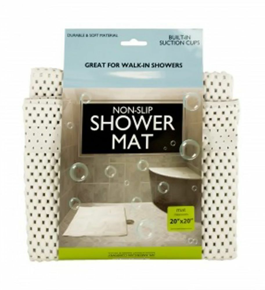 Non-Slip Shower Mat with Suction Cups Safety Bath Tub Anti ...