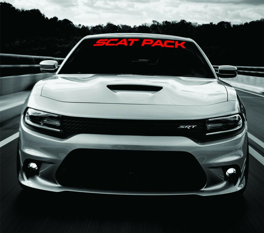 Dodge Charger SCAT PACK Windshield Banner Decal 2011-2017