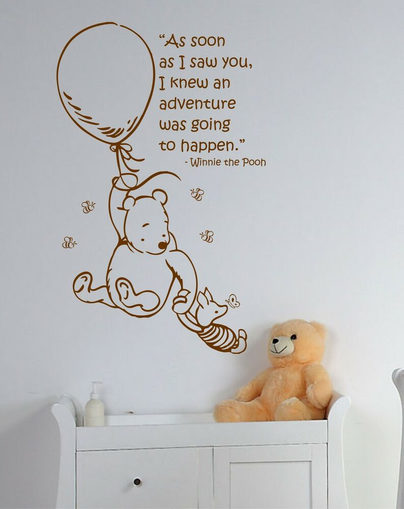 Classic children 39 s winnie the pooh piglet wall art for Classic pooh wall mural