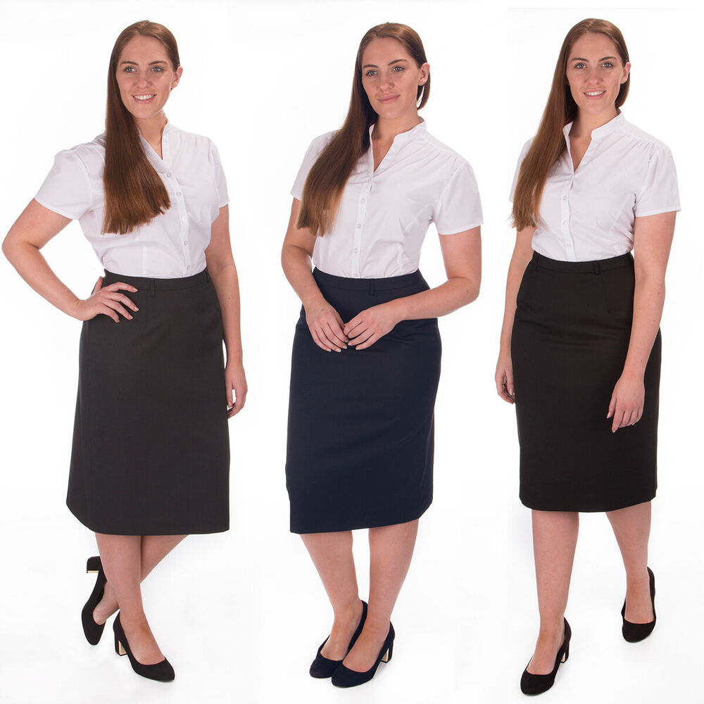 Women 39 s plus size bodycon zip pencil skirt formal office for Office size