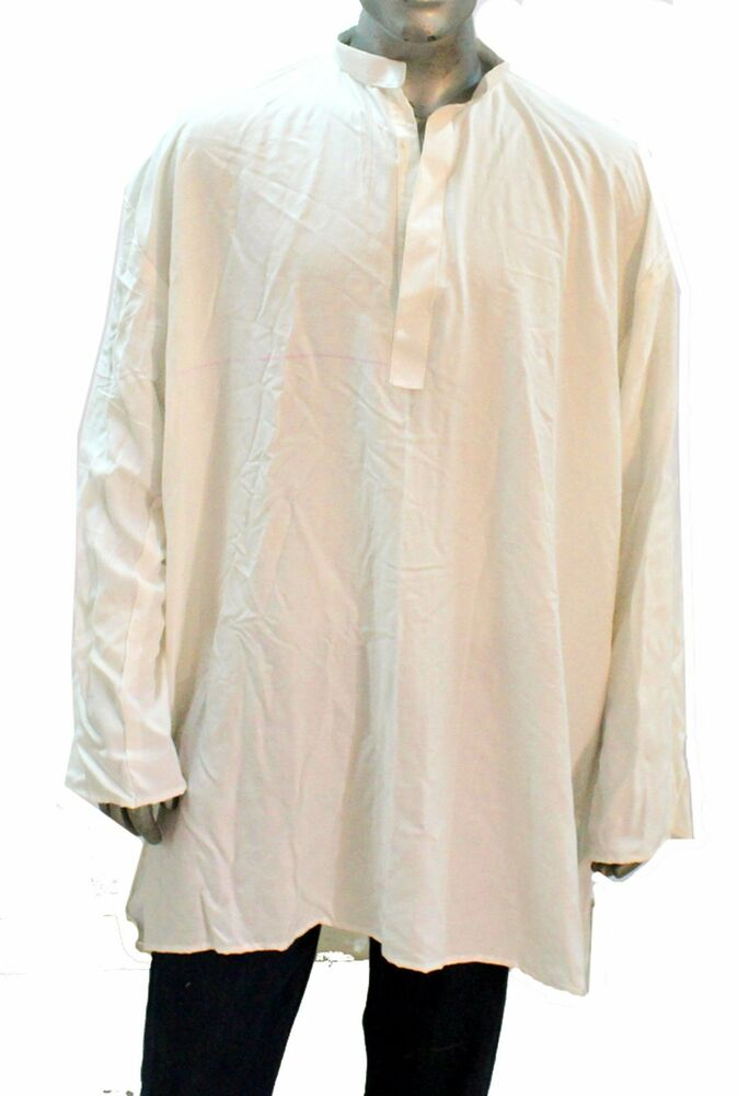 indian shirt kurta cotton blend men white plus size loose