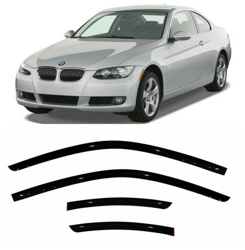 For BMW 3 Coupe E92 2006-2013 Window Visors Side Sun Rain