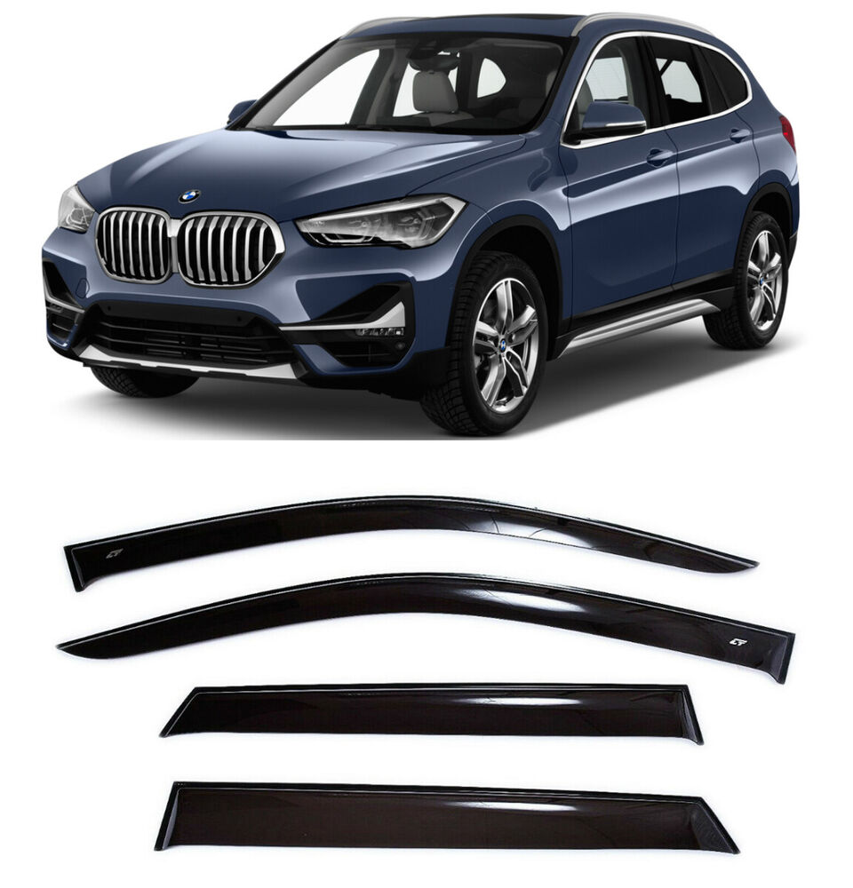 for bmw x1 f48 2015 2017 window visors side sun rain guard vent deflectors ebay. Black Bedroom Furniture Sets. Home Design Ideas